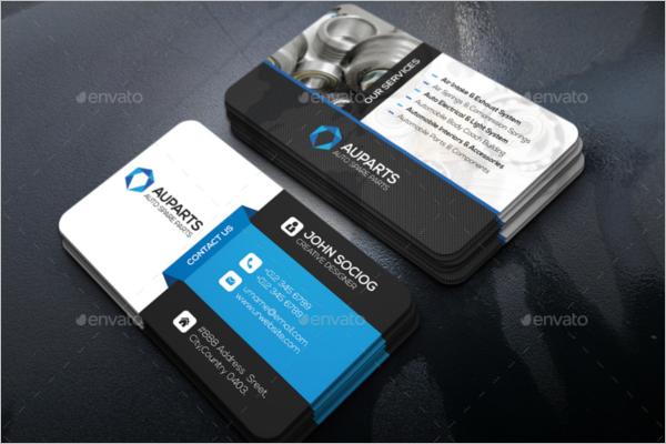 PSD Automotive Business Card Design