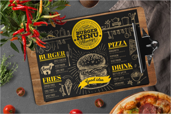 PSD Menu Card Design Template