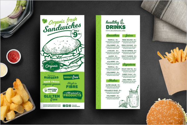 PSD Menu card Template