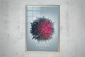PSD Poster Mockup Design