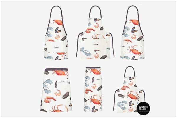 Pack Of Apron Mockup