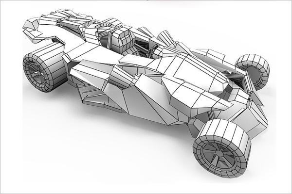 Paper Car 3D Design