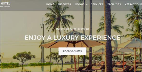 Parallax Hotel HTML Template