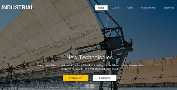 Parallax Industry HTML Template