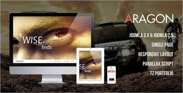 Parallax Joomla HTML Template
