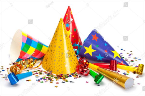 Party Decoration Background Elements
