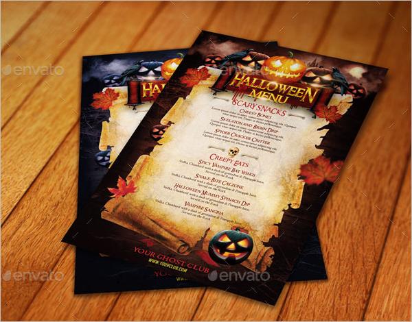 Party Menu Card Idea