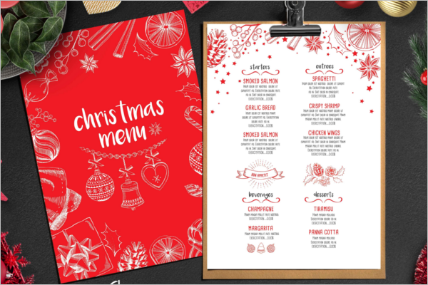 Party Menu Card Illustrator