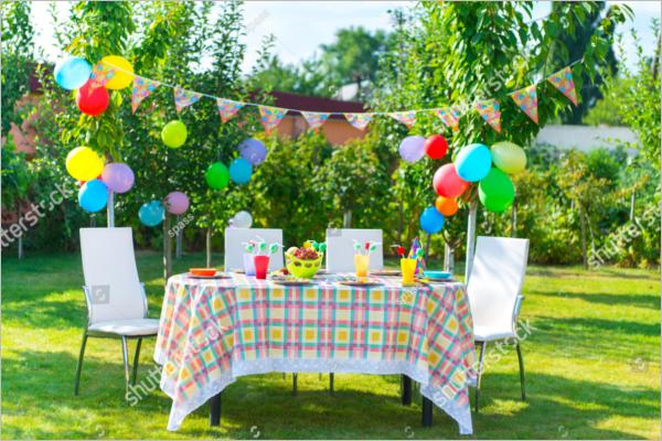 Party Table Decoration Idea