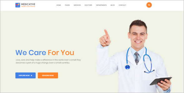 Patient Care HTML5 Template