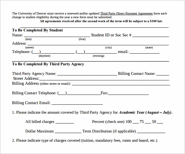 Payment Agreement Contract Format Free Download