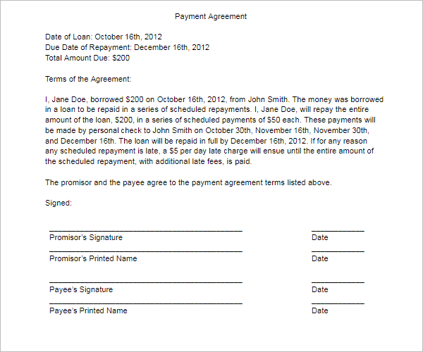 21+ Free Payment Agreement Templates PDF, Word, Doc Formats ...