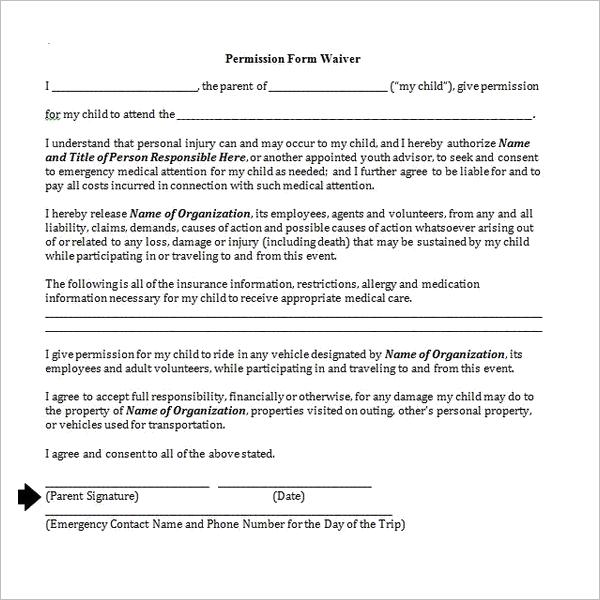 Permission Letter For Parents