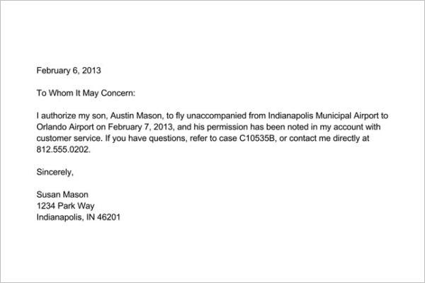 Permission Letter PDF Format