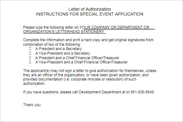 Permission Letter Sample Format