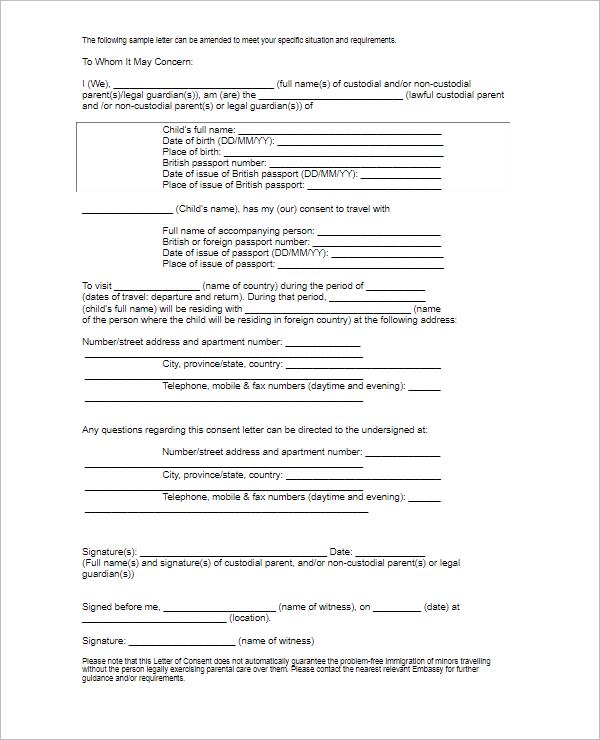 Permission LetterTemplate PDF