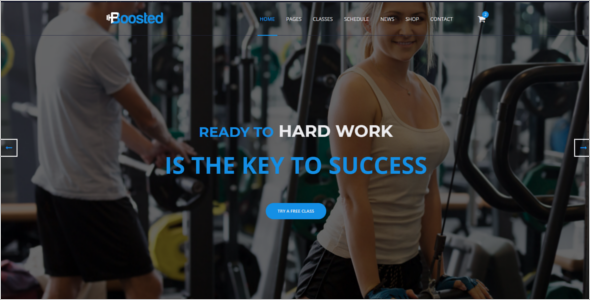 Personal gym HTML5 Responsive Template