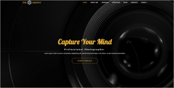 Photography Website Design Template