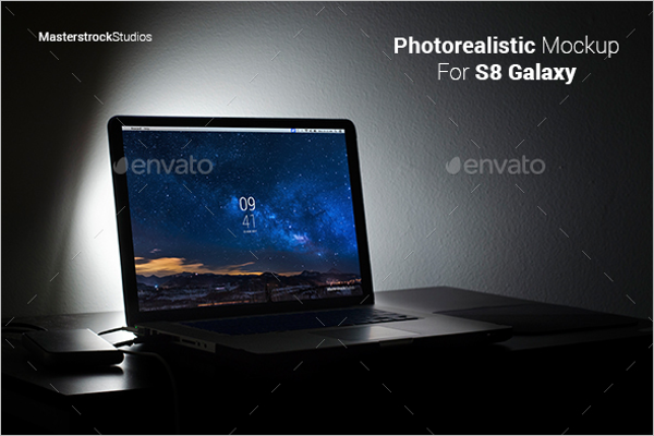 Photorealistic Laptop Mockup