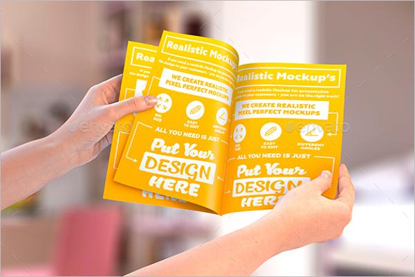 Photorealistic Leaflet Mockup Design
