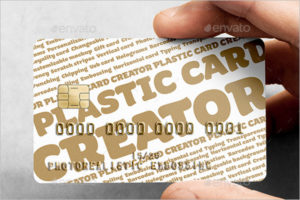 Plastic Visiting Cards Mockup Template