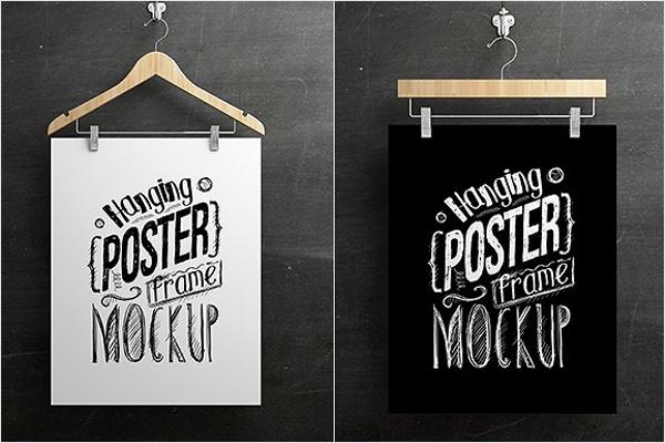 Poster Frame Mockup Design