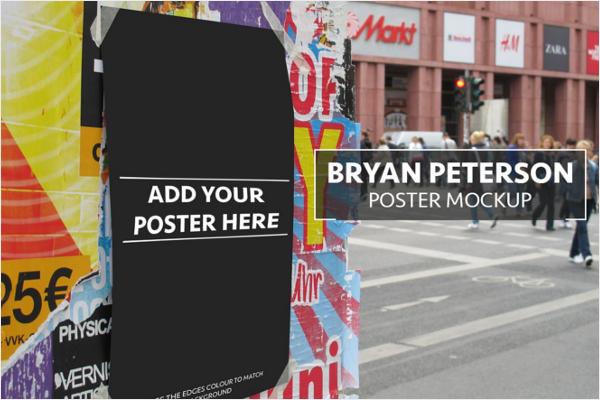 Poster Mockup Horizontal Design