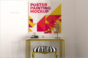 Poster Painting Mockup Design
