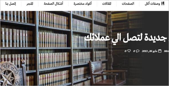 Premium Arabic WordPress Theme