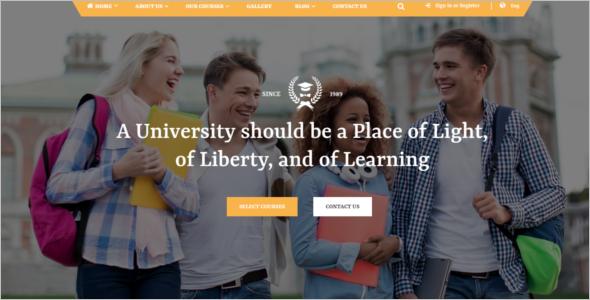 Premium University HTML5 Template