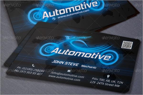 Printable Automotive Business Card Template