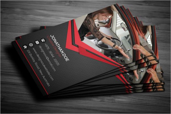 Printable Car Repair Business Card Template