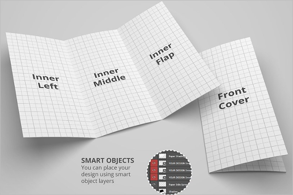 Printable Leaflet Mockup Template