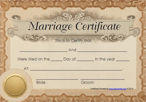 graphic relating to Printable Marriage Certificates named Certification Templates: 19 Romance Certification Templates