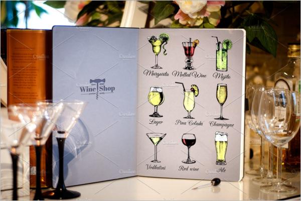 Printable Party Menu Card Design