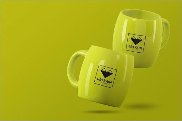 Printing Mug Mockup Design