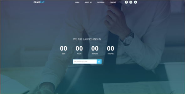 Professional Coming Soon HTML5 Template