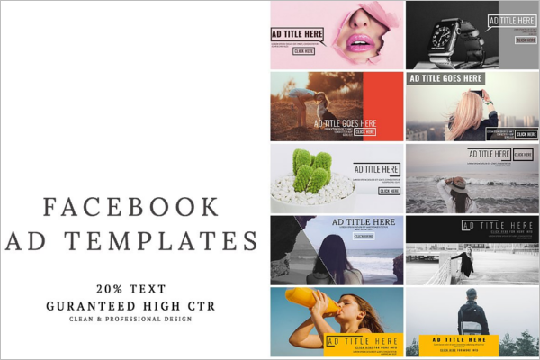 Facebook Ad Templates Free PSD Design Examples - Photography ad template