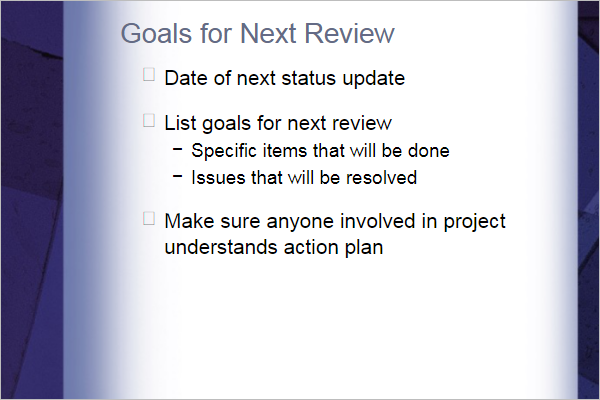 Project Report Template Powerpoint