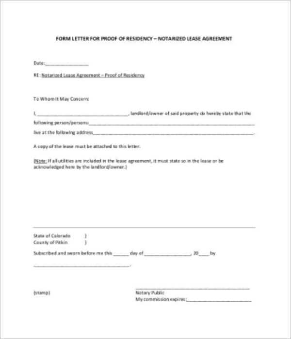 Proof Of Income Letter For Apartment