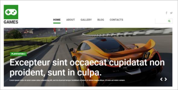RacingGaming Joomla Template