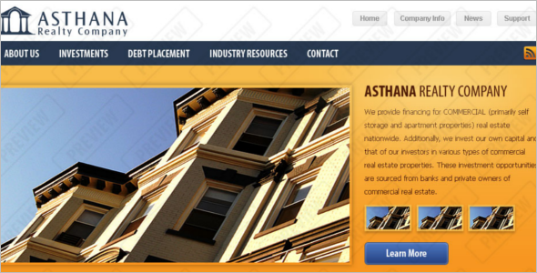 Real Estate Agency Joomla PSD Template
