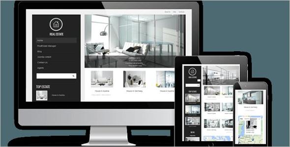 Real Estate Joomla Design Website Template