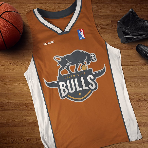 Realistic Basketball Mockup Design