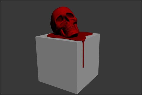 Realistic Skull 3D Model