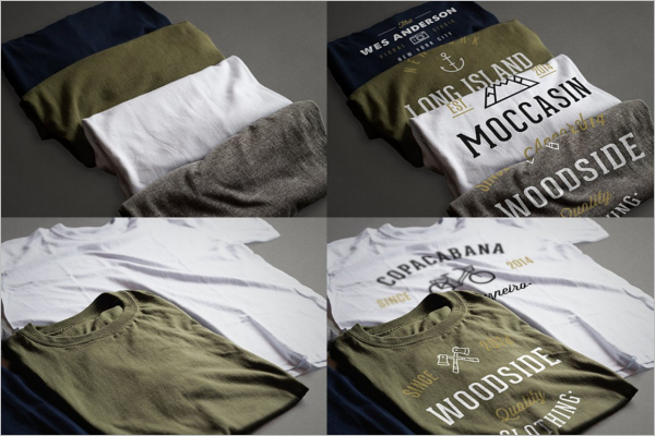 Realistic T-Shirt Mockup Design