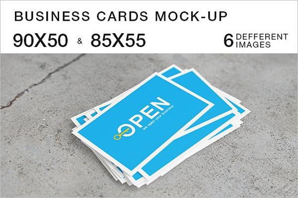 Realistic Visiting Cards Mockup Design
