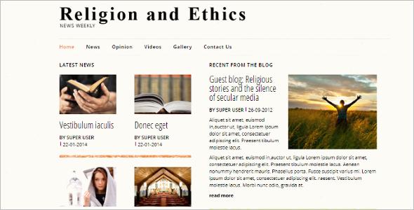 Religious News Joomla Template