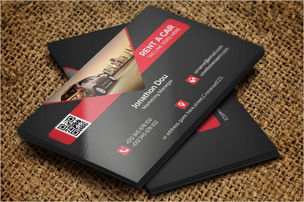 Rent A Car Business Card PSD