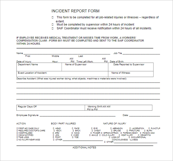 Report Template Design